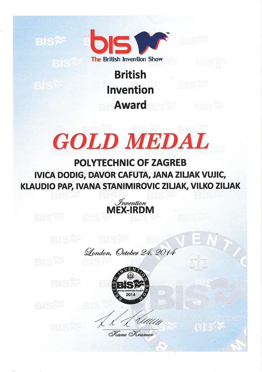 Zlatno odličje, BIS 2014.